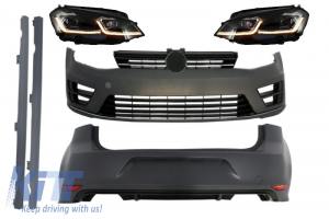 KITT brings you the new Complete Body Kit with G7.5 Look Headlights LED Dynamic Turning Lights suitable for VW Golf 7 VII (11/2012-07/2017) R Design