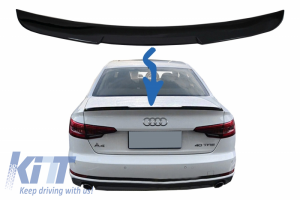 KITT brings you the new Trunk Spoiler suitable for Audi A4 B9 Sedan (2016-Up) Piano Black