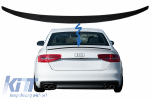 KITT brings you the new Trunk Spoiler suitable for Audi A4 B8 Sedan (2008-2015) Piano Black