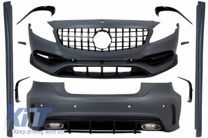 KITT brings you the new Complete Body Kit with Grille suitable for MERCEDES A-Class W176 (2012-2018) Facelift A45 Design