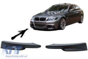 KITT brings you the new Front Bumper Splitters Spoiler suitable for BMW 3 Series E90 E91 LCI (2008-2011) M-Tech Look