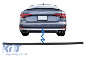 KITT brings you the new Rear Bumper Trim suitable for AUDI A4 B9 8W (2016-2018) Sedan/Avant S4 Design For Normal Bumper