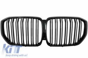 KITT brings you the new Central Kidney Grilles suitable for BMW X5 (G05) (2018-up) Double Stripe M Design Piano Black