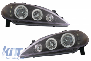 KITT brings you the new Headlights suitable for Renault Megane (3.1999-10.2002) Clear Glass Black