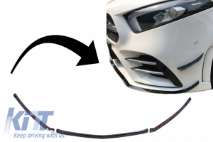 KITT brings you the new Front Bumper Lip Extension suitable for MERCEDES A-Class W177 V177 (04.2018-up) A35 Design Black Edition