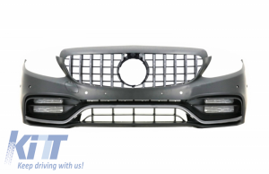 KITT brings you the new Front Bumper with Grille With/Without 360 Camera suitable for Mercedes C-Class W205 S205 (2014-2018) C63 GT-R Design