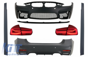 KITT brings you the new Complete Body Kit suitable for BMW F30 (2011-2019) with LED Taillights Dynamic Sequential Turning Light EVO II M3 CS Style Without Fog Lamps