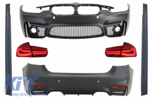 KITT brings you the new Complete Body Kit suitable for BMW F30 (2011-2019) with LED Taillights Dynamic Sequential Turning Light EVO II M3 CS Design