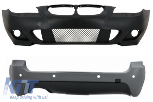KITT brings you the new Front Bumper without Fog Lights and Rear Bumper with PDC 28mm suitable for BMW 5 Series E61 Touring 2003-2007 M-Technik Design