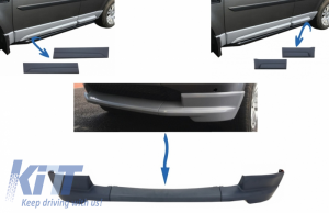 KITT brings you the new Dynamic Front Bumper Lower Lip Spoiler suitable for Land Rover Freelander 2 L359 Facelift (2011-2014) and Car Front/Rear Side Skirts Door Panels Left & Right