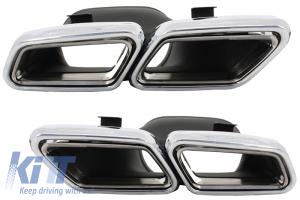 KITT brings you the new Exhaust Muffler Tips Mercedes Benz S-Class W222 E-Class S63 S65 W212 Facelift W205 C-Class S63 E63 Design