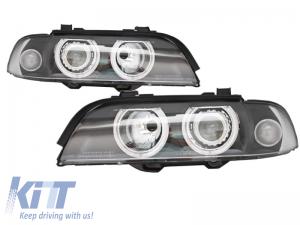 KITT brings you the new Angel Eyes Headlights BMW 5 Series E39 (1996-2003) Facelift Design Black Edition