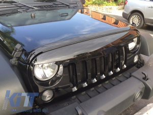 KITT brings you the new Central Grille Front Grille Jeep Wrangler / Rubicon JK (2007-2014) Angry Bird Design Piano Black