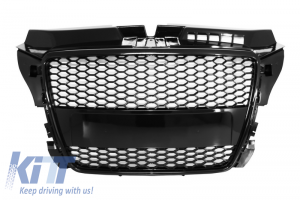 KITT brings you the new Badgeless Front Grille Audi A3 8P Facelift (2007-2012) RS Design Piano Black