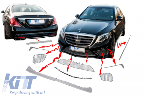 KITT brings you the new Chrome package ornaments moldings for Mercedes W222 (2013-up) S-class AMG S65 Body kit