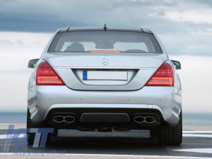 KITT brings you the new Rear Bumper Diffuser Mercedes Benz W221 S-Class (2005-2013) Facelift S63 S65 AMG Design