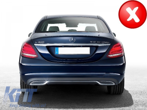KITT brings you the new Muffler Tips Black Mercedes Mercedes Benz C-Class W205 C-Class S65 E65 GLE W166 X166 GLC W253 Sport AMG Design