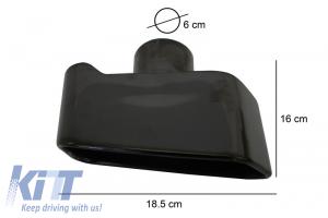 KITT brings you the new Exhaust Muffler Tips Sport Performance 550i Design Black Edition BMW X5 E70 2007-2014; BMW 5 Series F10 F11 2011-2017; Mercedes ML W164 2005-2012