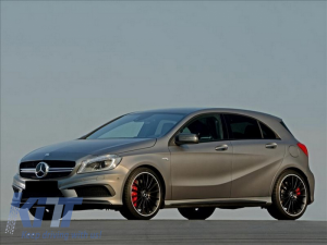 KITT brings you the new Mercedes A-class W176 (2012-08/2015)  Front Bumper Splitters Fins Brows Aero A45 AMG Design
