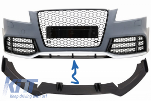 KITT brings you the new Front Bumper Add-On Spoiler Lip suitable for AUDI A5 8T RS5 (2008-2016) Real Carbon