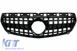 KITT brings you the new Central Grille suitable for MERCEDES Benz A-Class W176 (2012-08.2015) A45 GT-R Panamericana Design All Black