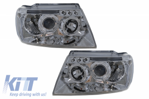 KITT brings you the new HEADLIGHTS SUITABLE FOR JEEP GRAND CHEROKEE (1999-2004) ANGEL EYES CHROME