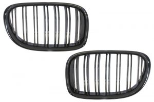 KITT brings you the new Central Grilles Kidney Grilles suitable for BMW F01 7 Series 2008-up Double Stripe M Design Piano Black