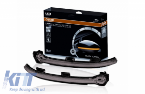 KITT brings you the new Osram Dynamic Full LED Mirror Indicators LEDriving suitable for VW Golf 7 VII (08/2012-) VW Touran II (05/2015-) Black Edition