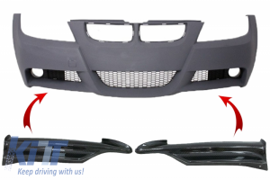KITT brings you the new Front Bumper Splitters Spoiler suitable for BMW 3 Series E90 Sedan E91 Touring M-tech (2009-2012)
