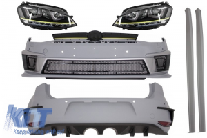 KITT brings you the new Complete Body Kit suitable for VW  Golf 7 VII 12+ R400 with Headlights 3D LED DRL Yellow LED Turn Light