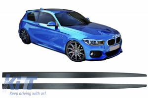 KITT brings you the new Side Skirts Add-on Lip Extensions suitable for BMW 1 Series F20 F21 (2011-2018) M-Performance Design