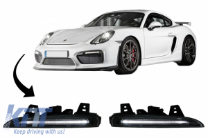 KITT brings you the new DRL LED for Front Bumper suitable for PORSCHE CAYMAN 981C BOXSTER 981 (2013-2016) GT4 Design