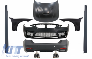 KITT brings you the new Complete Body Kit suitable for BMW F30 (2011-2019) EVO II M3 CS Style Without Fog Lamps with Front Fenders and Hood Bonnet