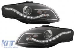 DECTANE daytime running headlights AUDI A4 B7 04-08 black  - SWA08ELGXB