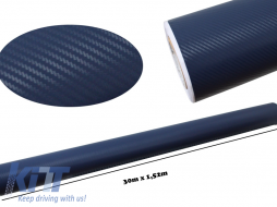 3d Carbon fiber film textured - car vinyl 1,52 (30m) - Fol3DW2Blue