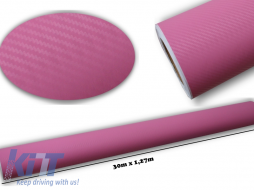 3d Carbon fiber film textured - car vinyl 30 meters - CF309/PINK