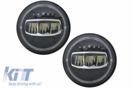 7 Inch CREE LED Headlights Angel Eye Halo DRL suitable for Jeep Wrangler JK TJ LJ JL (1997-2017) 5 Stars Design - HLU7INCHJ8