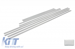 Add On Door Moldings Strips suitable for MERCEDES G-class W463 (1989-up) Brushed Aluminum - DMMBW463AMGS