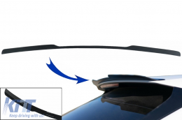 Add-On Roof Spoiler Cap suitable for Audi Q8 SUV (2018-up) Sport Design Piano Black - RSAUQ8V1MX