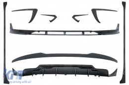 Aero Body Kit Extension suitable for Tesla Model 3 (2017-up) Carbon Look - CBTSLM3CF