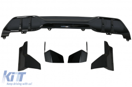 Aero Body Kit Front Bumper Lip and Air Diffuser suitable for BMW X5 G05 (2018-up) M Performance Design Piano Black - CBBMG05MPB