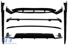 Aero Body Kit suitable for BMW X5 G05 (2018-up) M-Tech Black Knight Design Piano Black - CBBMG05MPAEROB