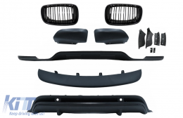 Aerodynamic Body Kit suitable for BMW X5 E70 LCI (2011-2014) with Front Kidney Grilles - COFGBME70DPBBK