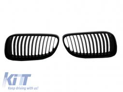 All shiny black Front Grilles Kidney Grilles BMW E92/E93 Coupe/Cabrio LCI (2011-2013) - FGBME92LCIPB