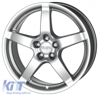 Alloy wheels ANZIO Drag 18, 8, 5, 114.3, 48, 70.1, Hyper Silver,  - ANZDRA97