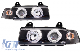 Angel Eyes Headlights BMW 3 Series E36 2D Coupe/Cabrio (1992-1997) - PXN1-142B