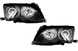 Angel Eyes Headlights BMW 3 Series E46 (2001-2004) Black Edition - PXN1-304D