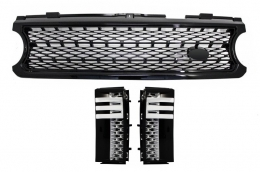 Assembly Central Grille and Side Vents Land Rover Range Rover Vogue III (L322) (2006-2009) All Black Autobiography Supercharged Edition - COFGRR02BB