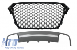 Assembly Central Grille with Rear Bumper Valance Air Diffuser A4 B8 Facelift (2012-2015) Limousine/Avant RS Design - COFGAUA4B8FS4B