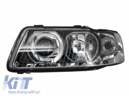 Audi A3 8L (2000-2003) Replacement Left Side Headlight Chrome Background 8L00941003K 8L0941003AF - 1030183